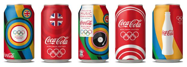 可口可樂推出一系列2012倫敦奧運限定版設計 Coca Cola's 2012 London Olympic Branding