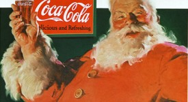 coke-santa; Guess how much Coca-Cola spent on its logo.
