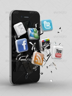 shattered-smartphone-social-media-icons