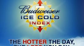 【案例】Budweiser ICE Cold Index:将品牌和气温连系在一起的行销活动