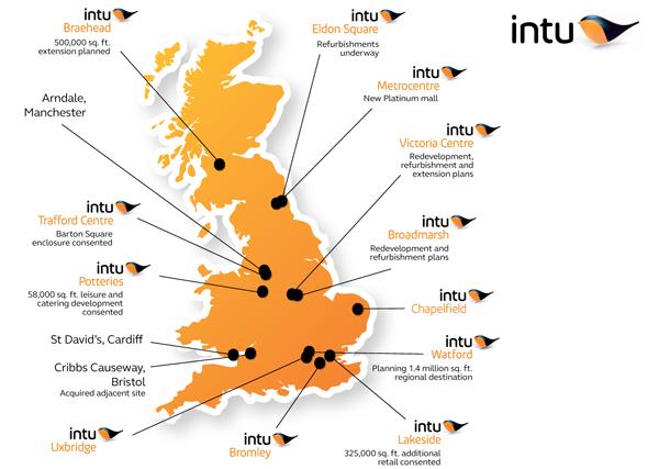 "intu new logo 3 新Logo:英国最大购物中心运营商CSC更名""Intu"""