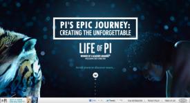 """""""少年Pi""""的活動網站,單單透過滑鼠滾輪就知道幕後制作的心酸啊~"""