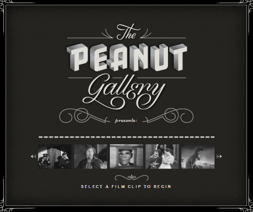 Google Chrome: The Peanut Gallery Experiment。         讓你自己來當導演