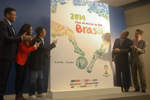 FIFA releases official poster of World Cup 2014 in Brazi 2014年巴西世界杯官方海报揭晓