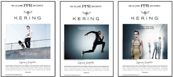 Kering new logo 5 世界第三大奢侈品集團PPR更名為Kering開雲