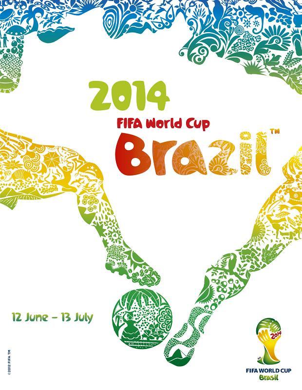 brasil2014 poster 2014年巴西世界杯官方海報揭曉