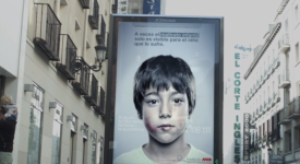 """不同""""角度""""的平面广告呈现-西班牙公益团体ANAR的行销案例"""