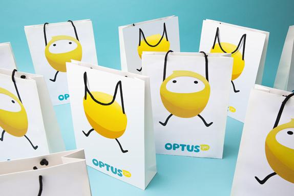 OPTUS Bags MULTI 01 澳大利亞第二大電信公司Optus新標識和卡通形象