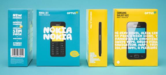 OPTUS Packaging 02 澳大利亞第二大電信公司Optus新標識和卡通形象