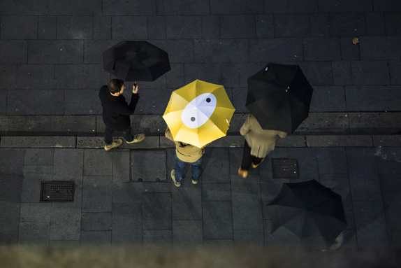 OPTUS Umbrellas 01 澳大利亚第二大电信公司Optus新标识和卡通形象