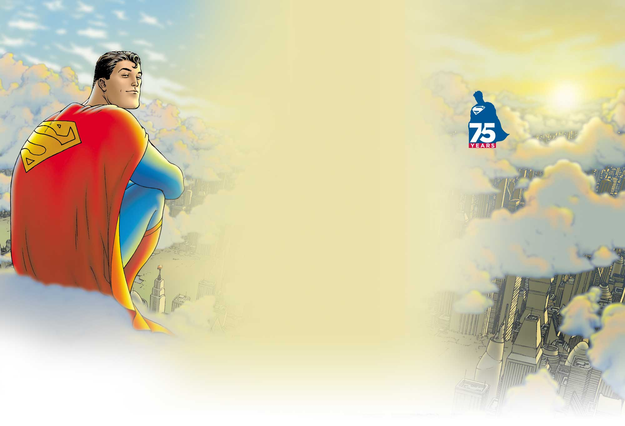 "superman 75 logo 3 漫画商推新标志纪念""超人""诞生75周年"