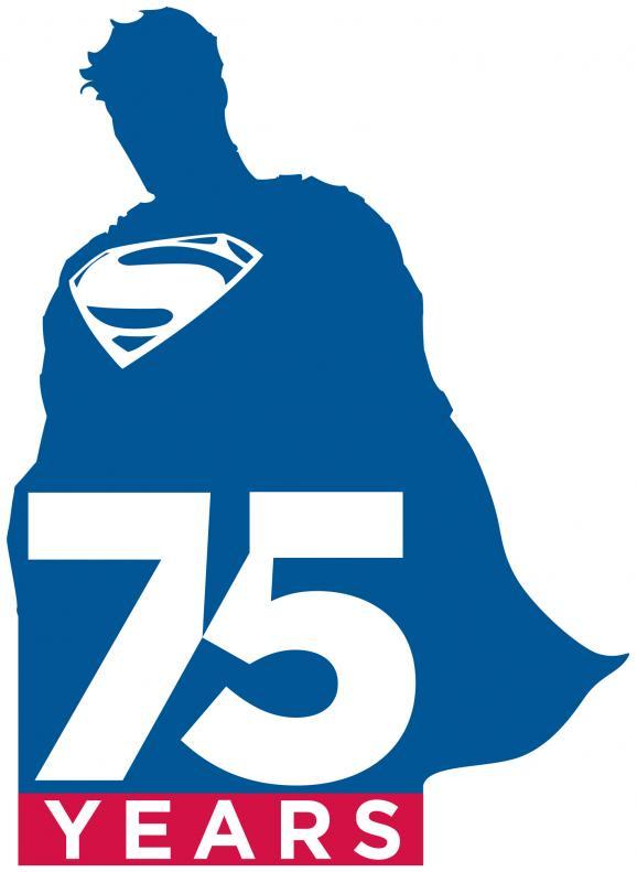 "superman 75 logo 漫画商推新标志纪念""超人""诞生75周年"