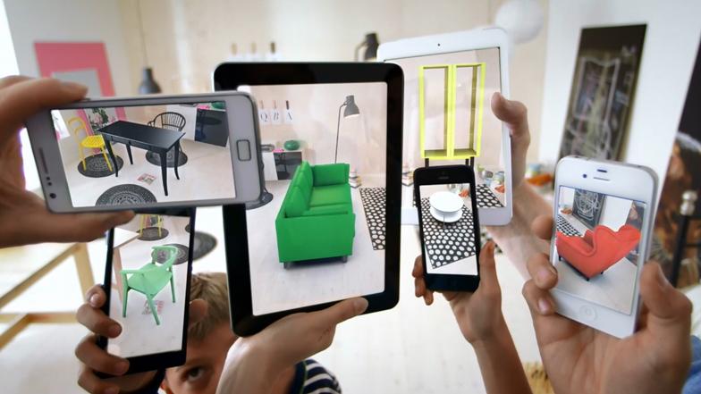 Ikea 推出跳出紙頁的3D目錄,好神奇!真實場景在你家上演!!