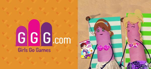 女性休閒遊戲平台Girls Go Games標誌及吉祥物