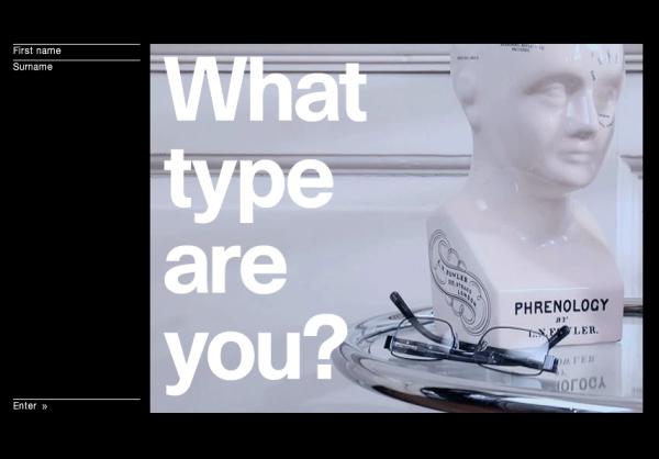 [最新行銷活動案例分享] 一起來測測看你是屬於那種字型吧!