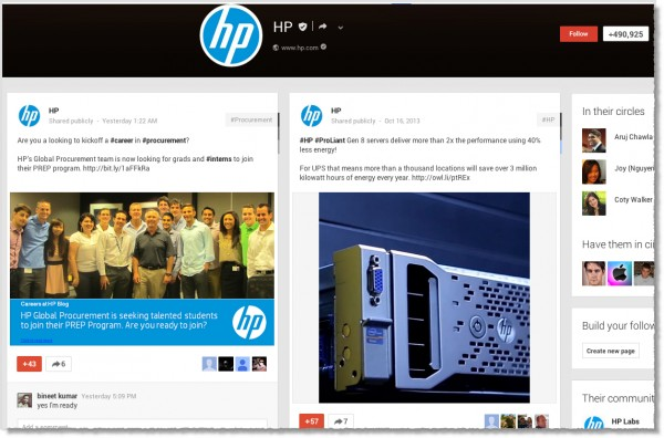 HP-Google+-page