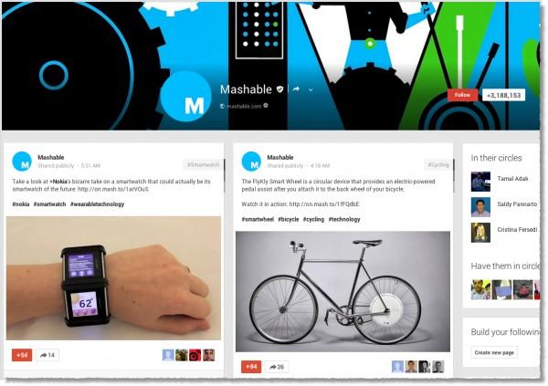 Mashable-Google+-page