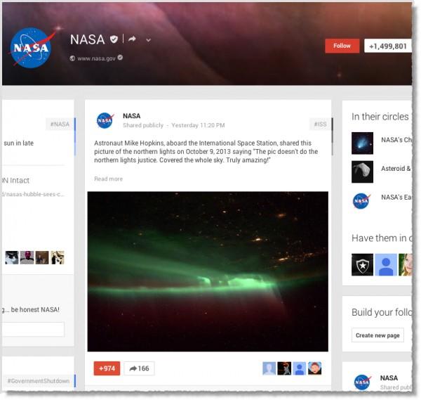 NASA-Times-Google+-page