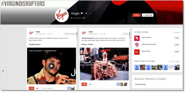 Virgin-Google+-page