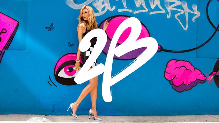 """美國知名女裝零售商Bebe旗下品牌""""2b""""新Logo"""