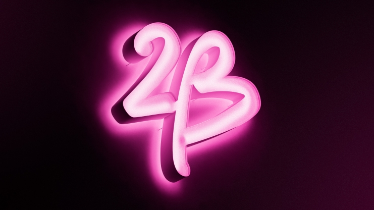 "2b bebe logo neon 美国知名女装零售商碧碧旗下品牌""2b""新Logo"