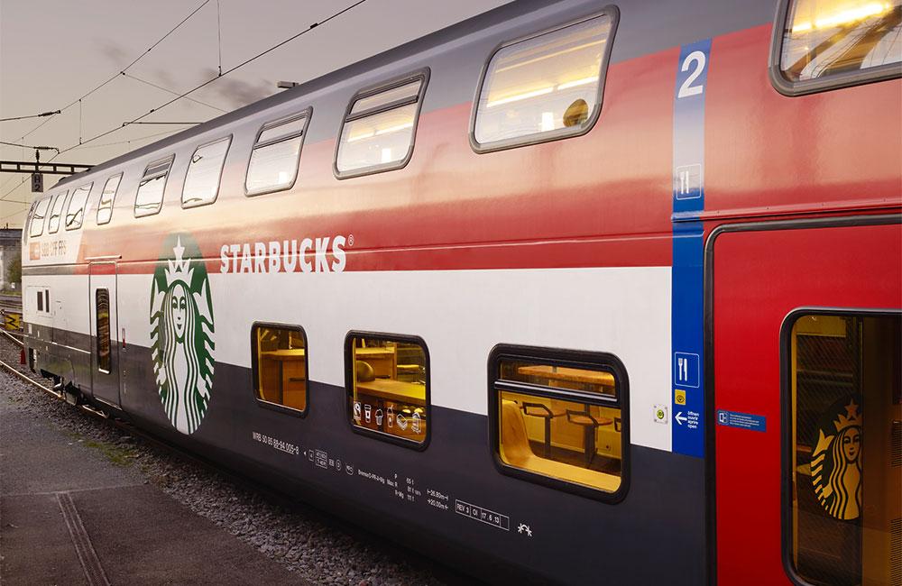 星巴克再度挑戰咖啡文化的極限,以星巴克為主題的火車現身瑞士!