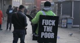 挑戰人性極限的公益廣告-去你X窮人,看到街上有這樣的人,你會有何反應!?