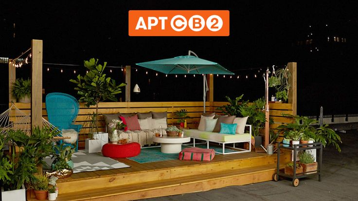 Today we worked together to turn this city Rooftop at #APTCB2 into a garden oasis! It's unbelievable what we created. Thanks for helping to design such an amazing space. See what we designed together: www.cb2.com/APTCB2 #workswithCB2