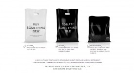 """超神奇双面两用袋!?""""买一捐衣"""",史上最贴心的购物袋设计~"""
