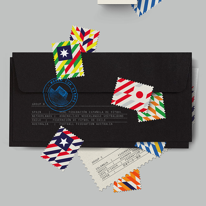 世足賽國家代表隊設計郵票款-你猜得出是那一國嗎?