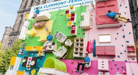 IKEA又出奇招!! 街头巨大攀岩墙现踪, 你敢攀看看吗!?
