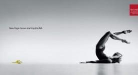 瑜伽教室怎麼推廣老師軟Q極致的深厚功力?? 美國創意廣告用______竟大獲好評!?