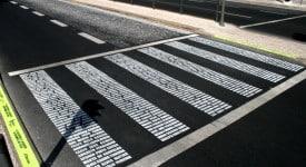 斑马线上的纪念碑, 葡萄牙是这样子提醒行人注意安全的!?