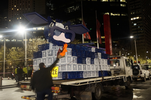 Massive Milk Crate Cow Bar Pops Up In Sydney Guerrilla Marketing Photo