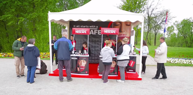 Nescafé Locks A Thousand Red Mugs All Around Croatia Guerrilla Marketing Photo