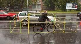 拉脫維亞自行車組織Let's bike it -要你帶著支架騎鐵馬!?