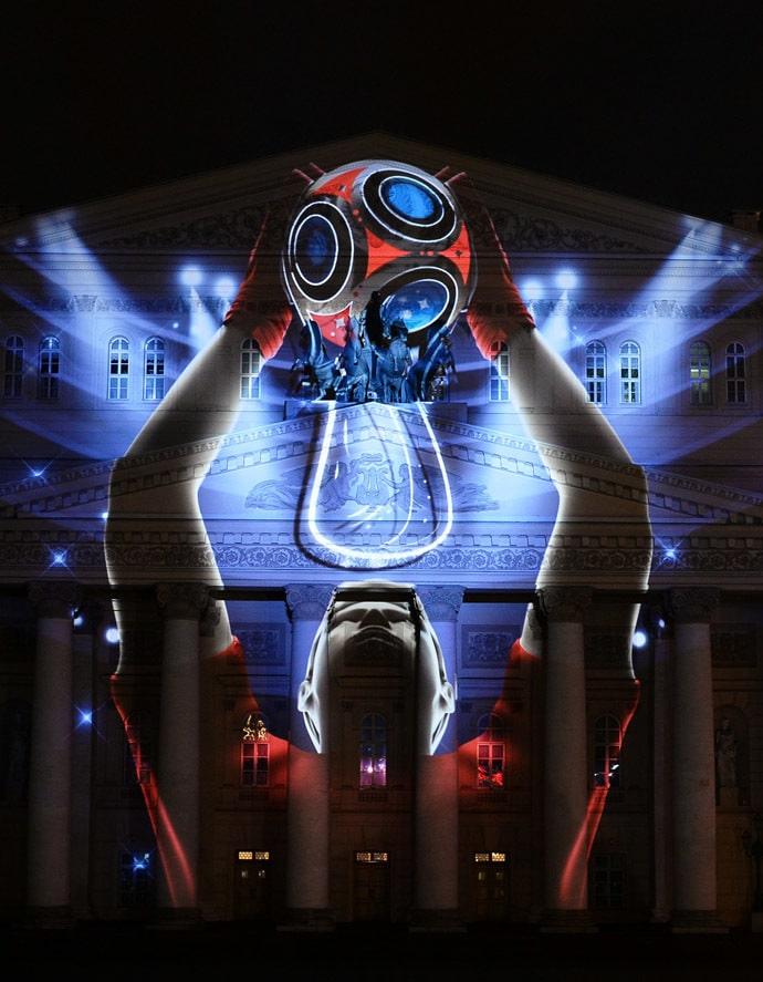 2018世界杯logo公佈啦!!!這種公佈方式,不愧是太空技術強大的戰鬥民族