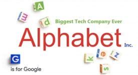 谷歌重組,創立的母公司Alphabet的企業識別