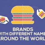 你知道這些知名品牌,在不同的國家可能有不同的名字嗎?