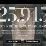 銳步Reebok拍了一部倒帶人生的短片:人生的25915 天,你都好好利用了嗎?