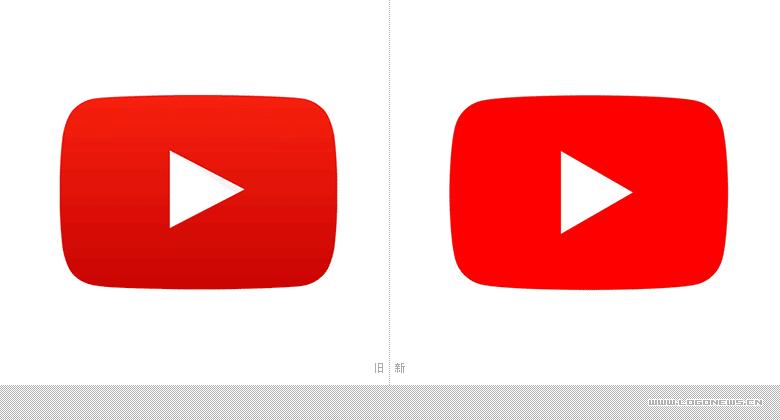 "YouTube微調了自己的""播放按鈕""LOGO,同時還設計了一款專屬字體"