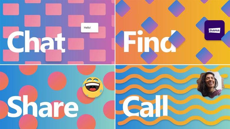 微軟通信應用軟體Skype大改版的同時還調整了自己的LOGO