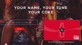 可口可樂今夏為暱稱瓶製作了1000 首暱稱歌,聽說特別適合廣告人