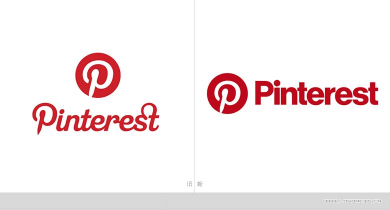 著名图片分享类社交网站Pinterest更换新LOGO