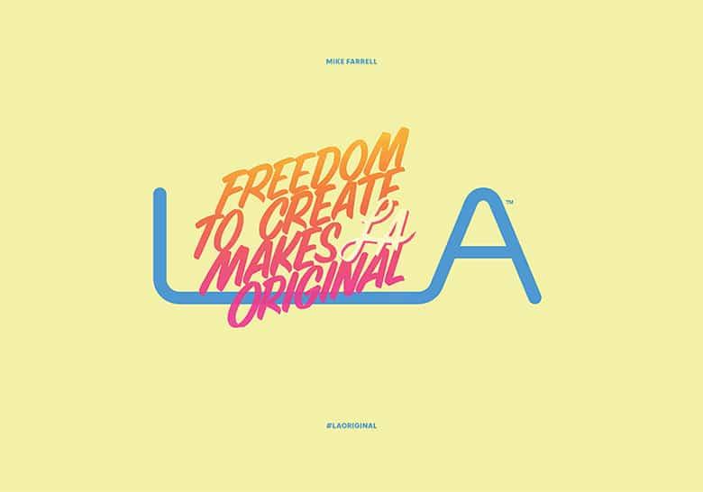 """洛杉磯為自己設計了官方LOGO,來加強""""世界創意之都""""的地位"""