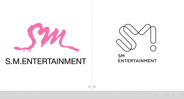 """像征融合,韓國知名娛樂公司""""SM娛樂集團""""更換新LOGO"""