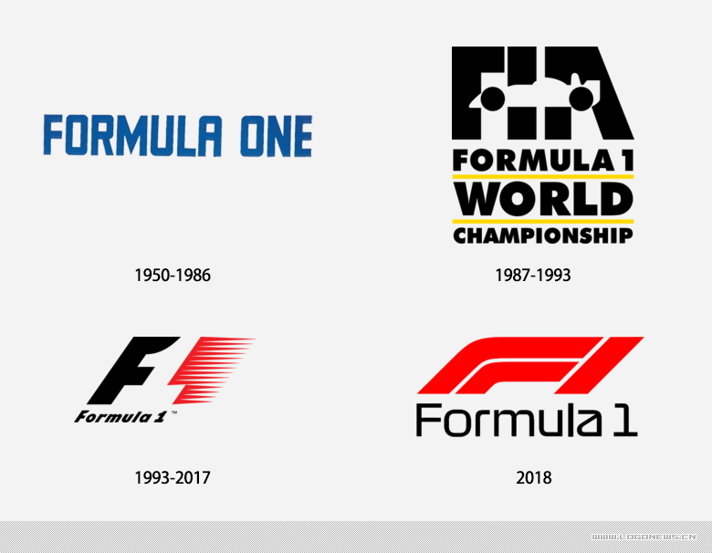 开启全新的时代:F1发布新LOGO,更简洁更具传播性