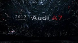 奧迪A7 汽車發布會,打造25公尺沉浸式光影空間