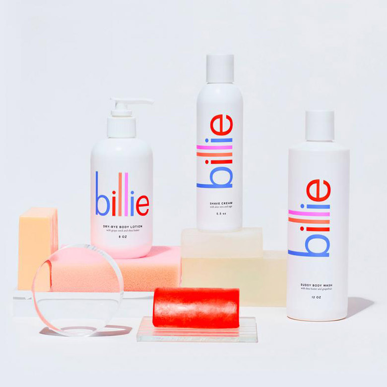 """女性專用除毛品牌""""Billie""""全新的品牌形象設計"""