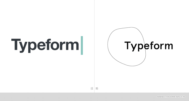 線上問卷調查平台Typeform更換新LOGO